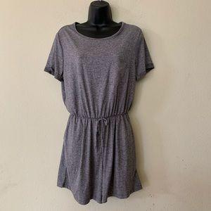 Gilli Grey Short Cuff Sleeve Elastic Waist Romper